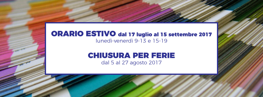orari estivi Bindcopy, copisteria di Parma