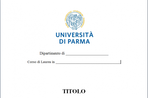 Frontespizio tesi di laurea Bindcopy snc di Parma