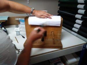 Morsa per incollare tesi di laurea. Bindcopy Parma copisteria legatoria cartoleria