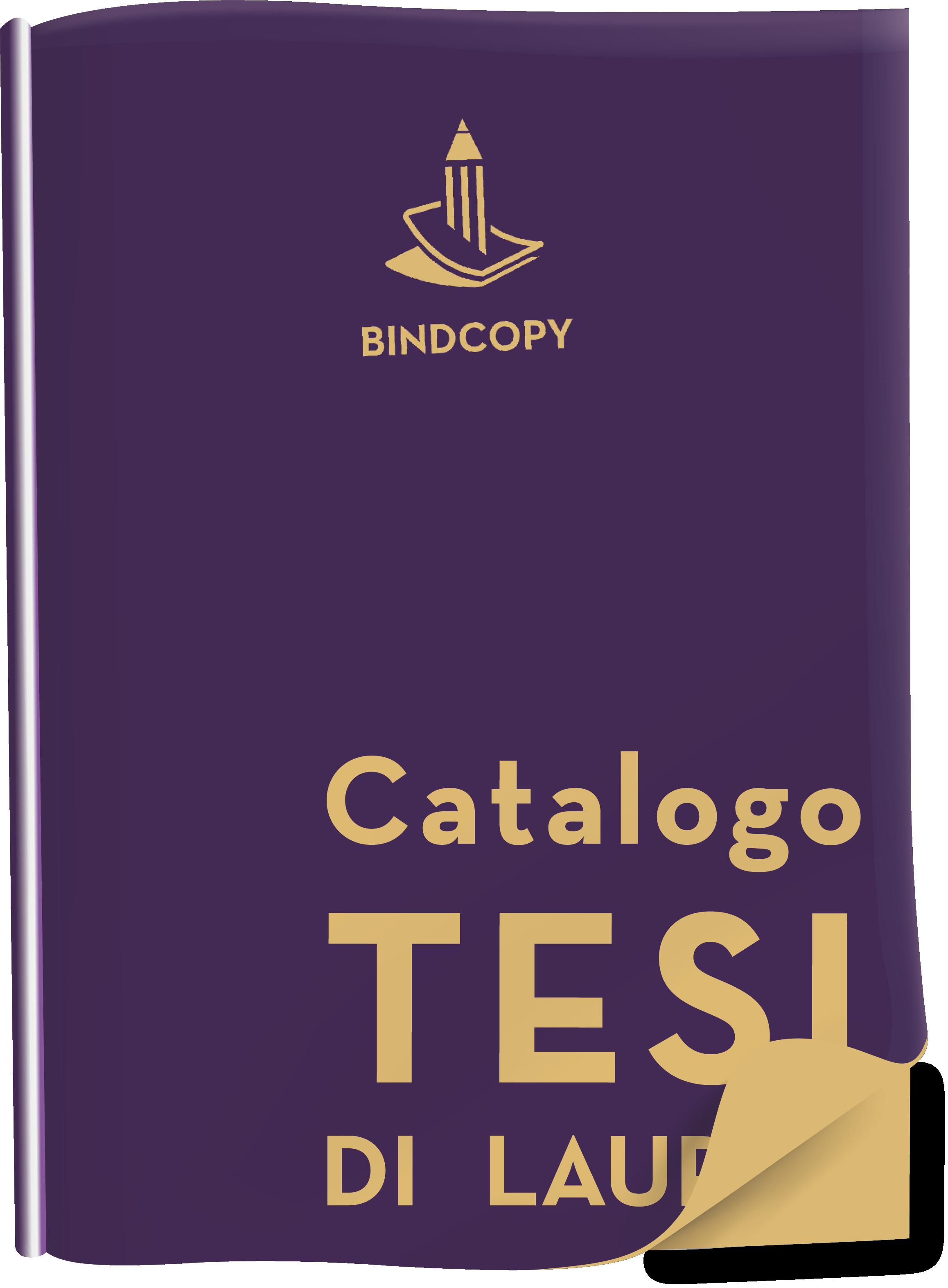 Cover catalogo Tesi di laurea BINDCOPY copisteria legatoria artigianale