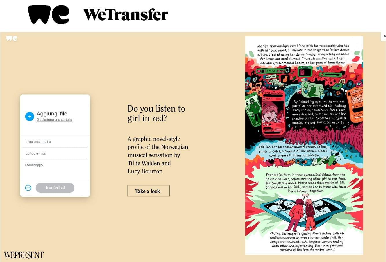 Inviare documenti con WeTransfer - 1